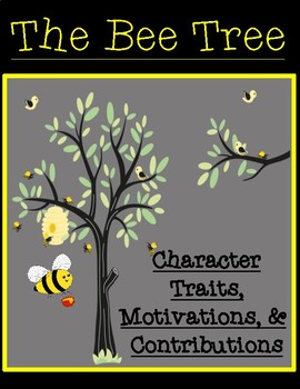 The Bee Tree Character Traits, Motivations, and Contributions Graphic Organizers