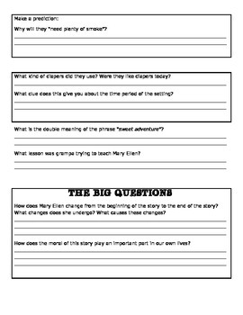 The Bee Tree by: Patricia Polacco - Critical Thinking Questions