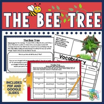 The Bee Tree by Patricia Polacco is a sweet story (literally). The Bee Tree is about how Mary Ellen learns the sweetness of reading and books. It is written on a fourth grade level and the unit would work well for grades 3-5. This unit  now comes in both DIGITAL using Google Slides TM and PDF options. Skills include point of view, characterization, questioning, summarizing, theme, cause/effect and writing extension.