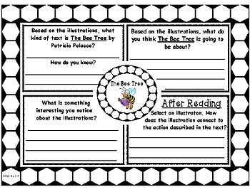 The Bee Tree by Patricia Polacco Picture Walk Graphic Organizer