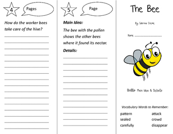 The Bee Trifold - Storytown 2nd Grade Unit 5 Week 3