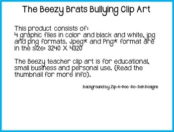 The Beezy Brats Bullying Clip Art