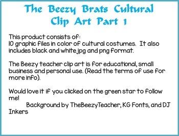 The Beezy Brats Cultural Clip Art Part 1