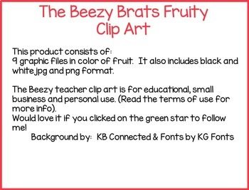The Beezy Brats Fruity Clip Art
