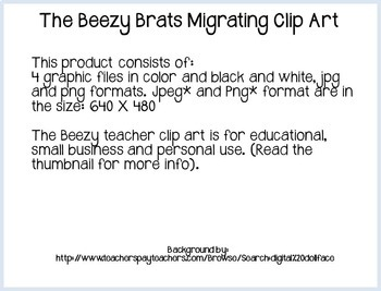The Beezy Brats Migrating Clipart