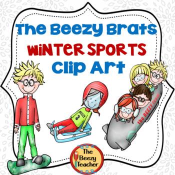 The Beezy Brats Winter Sports Clip Art