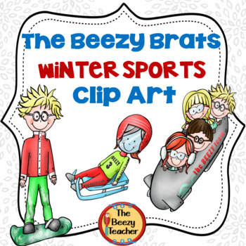 The Beezy Brats Winter Sports Clip Art
