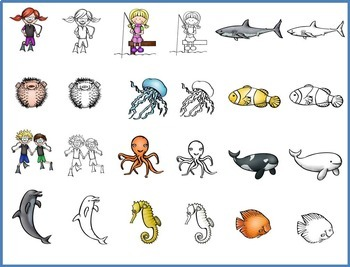 The Beezy Brats and the Sea World Clip Art
