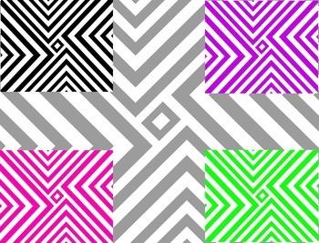 The Beezy Teacher Diagonal Stripe Digital Paper