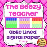 The Beezy Teacher Oblic Lined Digital Paper