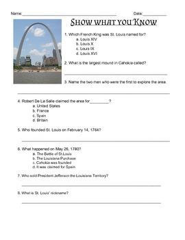The Beginings of St. Louis, Missouri