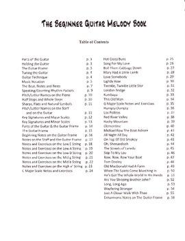 The Beginner Guitar Melody Book