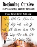 The Beginning Cursive: Daily Handwriting Practice Workbook - Large Print