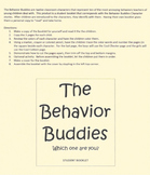 The Behavior Buddies Student Booklet