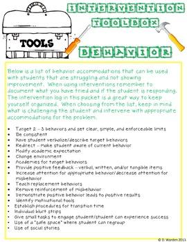 The Behavior Hub with Intervention Tools