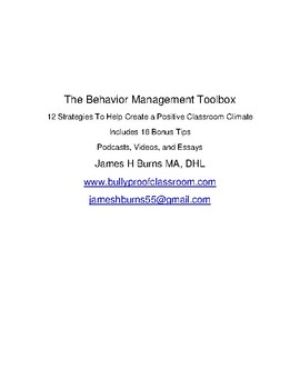 The Behavior Management Toolbox