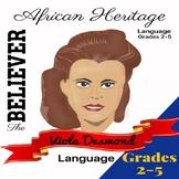 The Believer Series - VIOLA DESMOND/Black History/African