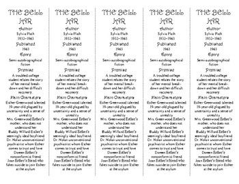 The Bell Jar ed. of Bookmarks Plus—Great Gift for Students; Handy Reading Aid!