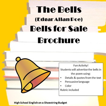 The Bells Bells For Sale Brochure Activity (E.A. Poe)