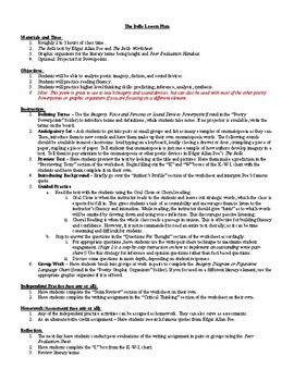 The Bells Poem by Edgar Allan Poe Lesson Plan, Worksheets with Key