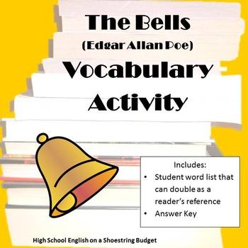 The Bells Vocabulary Activity (E.A. Poe)