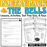 The Bells by Poe: Common Core Poetry Test Prep Lesson, Quiz, Activities
