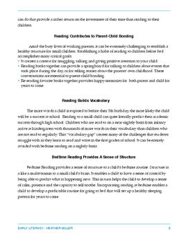 The Benefits of Reading to your Child_Handout for Parents