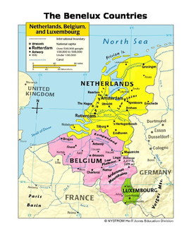 European Maps: The Benelux Countries map and questions