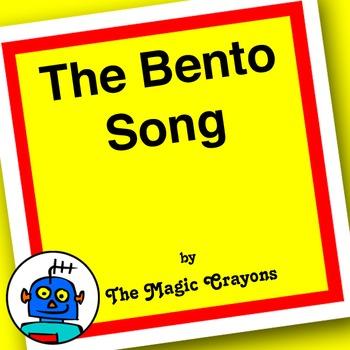 The English Bento (Lunchbox) Song for ESL, EFL, Kindergarten. Spoon, chopsticks