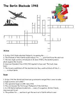 The Berlin Blockade 1948 Crossword
