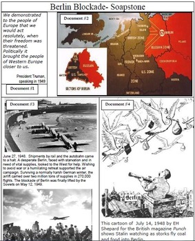 The Berlin Blockade SOUPSTone Primary Source Analysis Worksheet