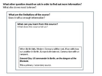 The Berlin Blockade Source Analysis Activity