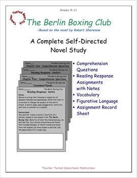 The Berlin Boxing Club: A Complete Self-Directed Novel Study