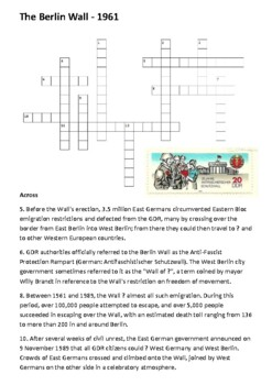 The Berlin Wall Crossword