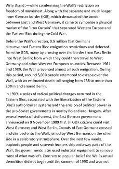 The Berlin Wall Handout