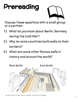 The Berlin Wall Informational Text and Activities for EFL-ESL-ELD