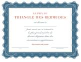 Bermuda Triangle Award: missing homework / Prix du Triangle des Bermudes