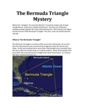 The Bermuda Triangle Reading Material and Creative Writing Prompt