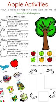 Apple Theme Activities for Preschoolers and Kindergarteners