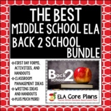 The Best Back to School Resource for Middle School ELA ~ Printable & Google