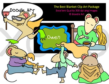 The Best Blanket Clipart Pack