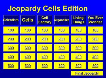 The Best Cell Jeopardy Game