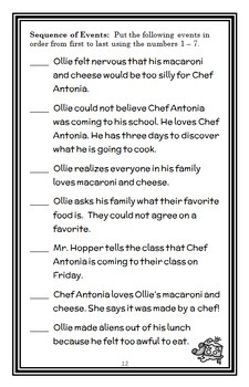 The Best Chef in Second Grade (Katharine Kenah) Novel Study / Comprehension