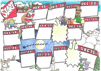 picture relating to Board Game Printable identified as Xmas board activity. Printable A3 board match for very low classes.