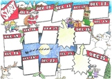 Christmas board game. Printable A3 board game for small groups.