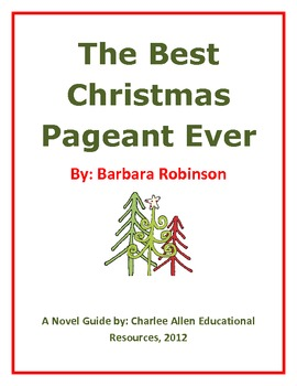 The Best Christmas Pageant Ever 24 page Novel Guide by Charlee Allen