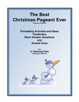 Best Christmas Pageant Ever  Mini-Teaching Guide