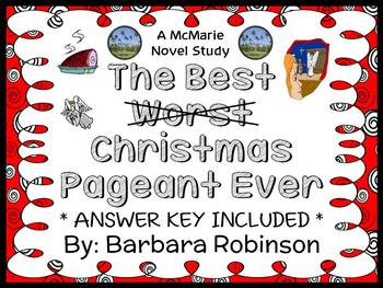 The Best Christmas Pageant Ever (Barbara Robinson) Novel Study / Comprehension