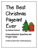 """The Best Christmas Pageant Ever"", Comp. Questions and Projects"
