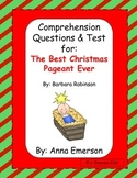 The Best Christmas Pageant Ever Comprehension and Test